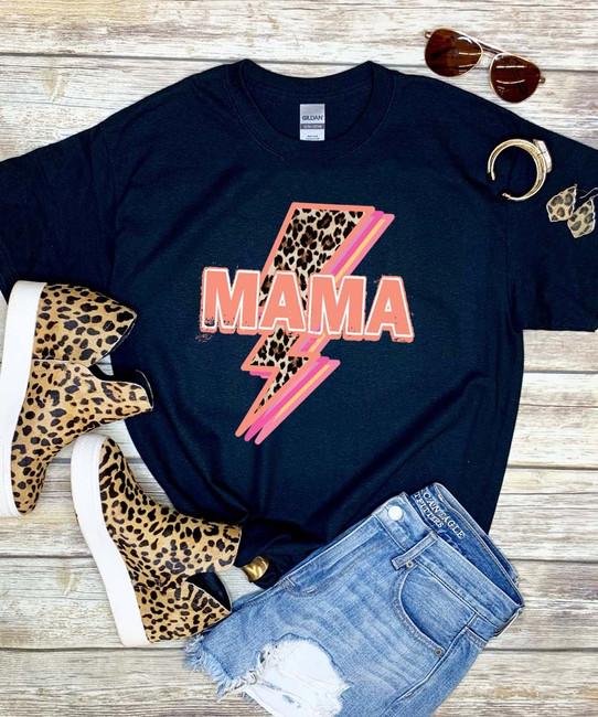Mama Lightning Bolt Graphic Shirt