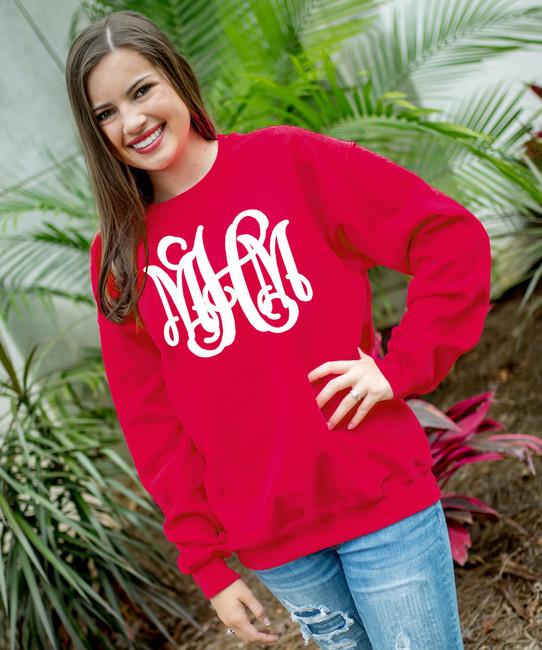 Full Monogrammed Football Sweatshirt