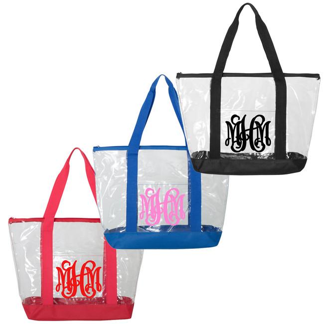 Monogrammed Clear Tote Bag