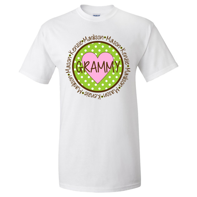 Personalized Circle Mom/Grandmother Graphic Tee