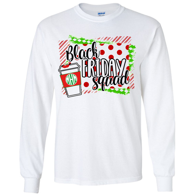 Monogrammed Black Friday Squad Graphic Tee