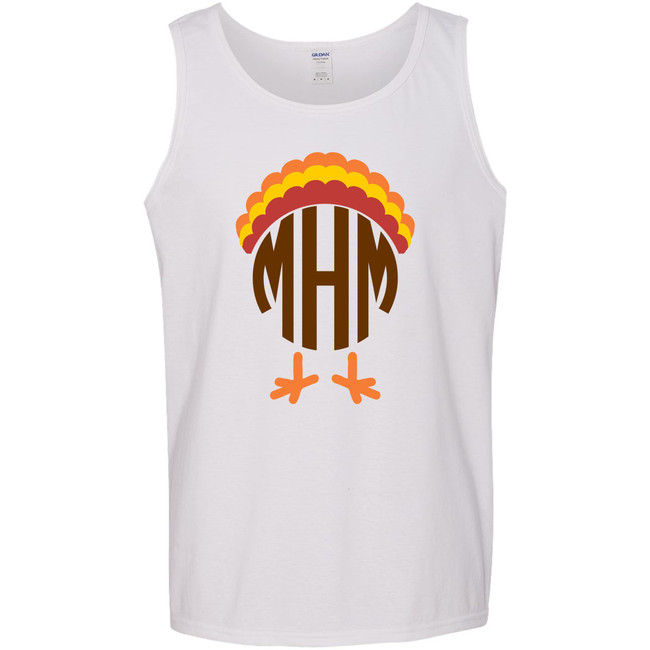 Personalized Turkey With Feathers Graphic Tee