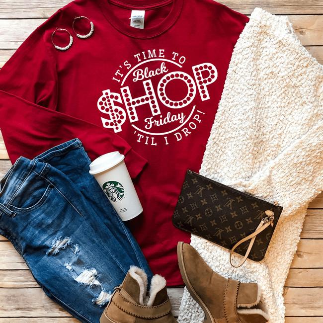 Black Friday Shop Til I Drop T-Shirt