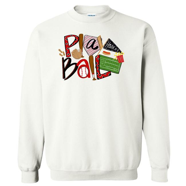 Baseball Play Ball T-Shirt - White