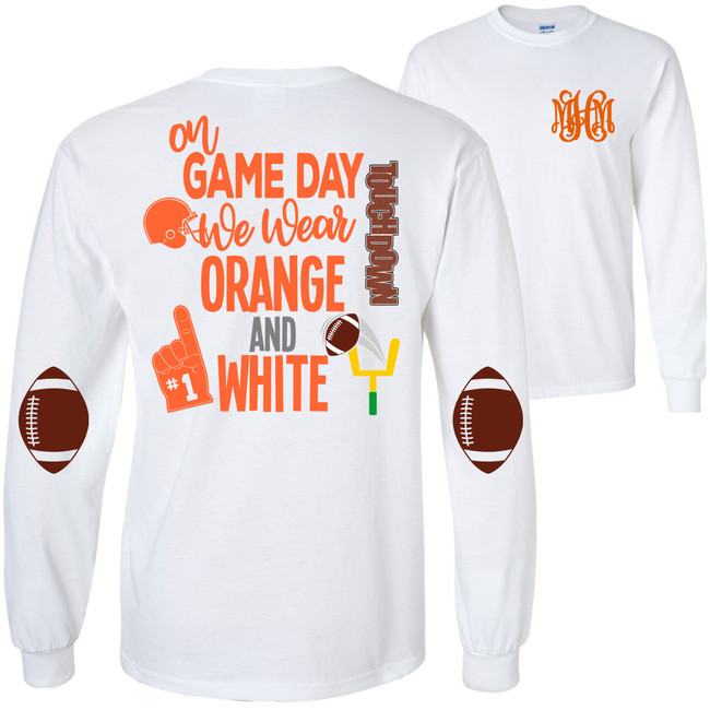 Monogrammed On Game Day We Wear T-Shirt