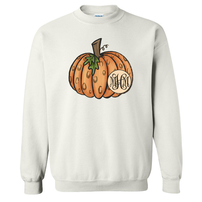 Personalized Leopard Pumpkin Graphic Tee Shirt