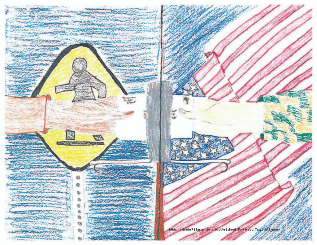 MCEC Print Miriam Grade 7 Eastern Hills Middle School, Ft. Hood, TX -Art