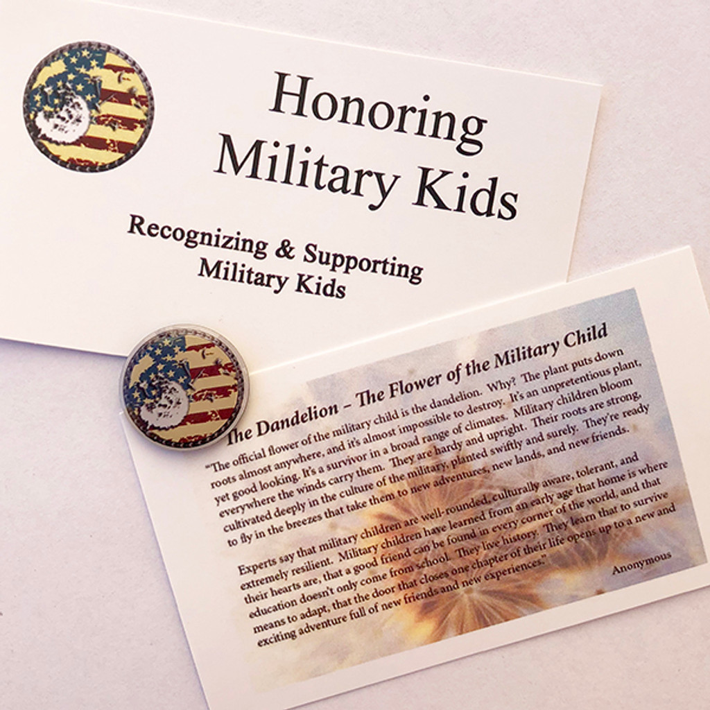 The Dandelion Pin (Vintage)- The Flower of the Military Child-Jewelry