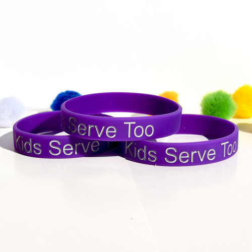 Silicone Wristband  (Kids Serve too) Adult-Merchandise
