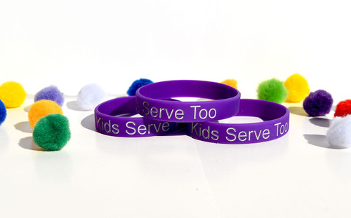 Silicone wristband (Kids Serve Too) Youth-Merchandise