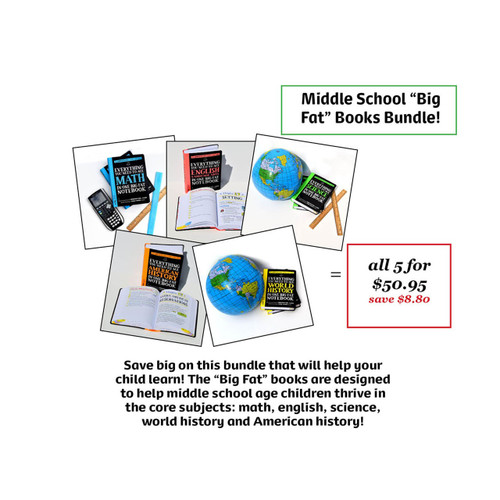 "Middle School ""Big Fat"" Books Bundle"