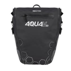 Oxford Aqua V 20 Motorcycle QR Pannier Bag Black