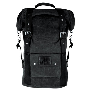 Oxford Heritage Wax Cotton Backpack Black 30L