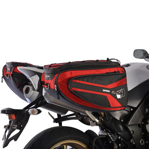 Oxford P50R Panniers Motorcycle  Luggage Red