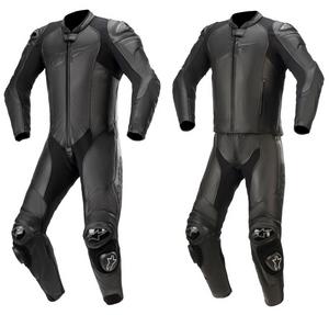 Alpinestars GP Plus V3 Graphite 1 Piece Leather Suit Black