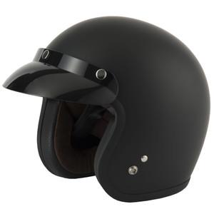 Vcan V541 Slim Jet Open Face Helmet Matt Black
