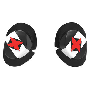 Oxford Knee Sliders White Black Ideal For Racing