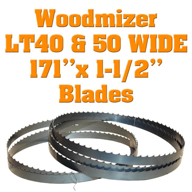 "Box of 5 blades 1-1/2"" Woodmizer LT40 Wide / LT50 Wide"