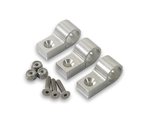 1/2in Polished Alum Line Clamp (3pk)