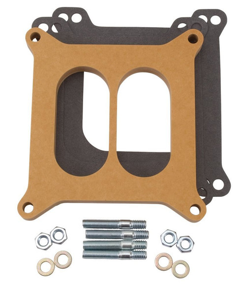Carburetor Spacer - .5in Divided - Wood