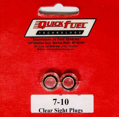 Clear Sight Plugs (pair) Fuel Bowl