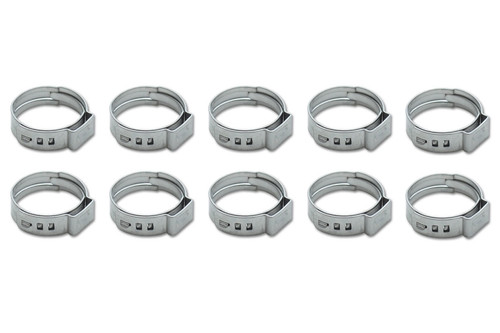Stainless Steel Pinch Clamps 17.8-21.0mm 10 Pack