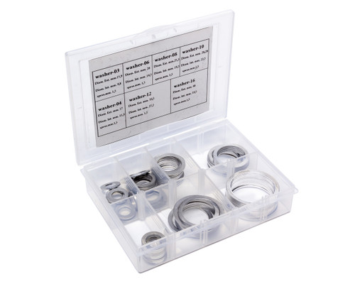 Box Set of Crush Washers 10 of each -3AN to -16AN