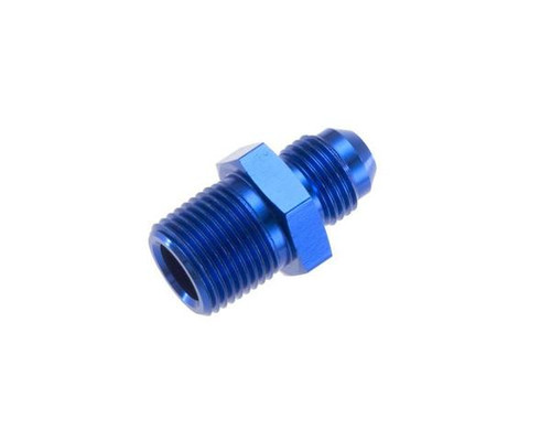 """Red Horse  -10 Straight Male Adapter to -12 (3/4"""") NPT Male - Blue"""