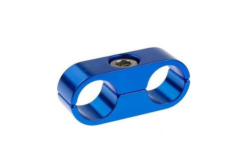 """Red Horse -08 to 1/2"""" Hard Line AN Aluminum Hose End - Red & Blue"""