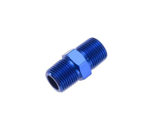 """Red Horse -02 (1/8"""") NPT Male Pipe Union - Blue"""