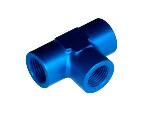 """Red Horse - 1"""" Female Tee NPT Adapter - Blue"""