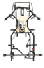 VLR Sapphire Cadet Kart Chassis (w/ LO206 Engine & Max Torque #219 Complete Kit
