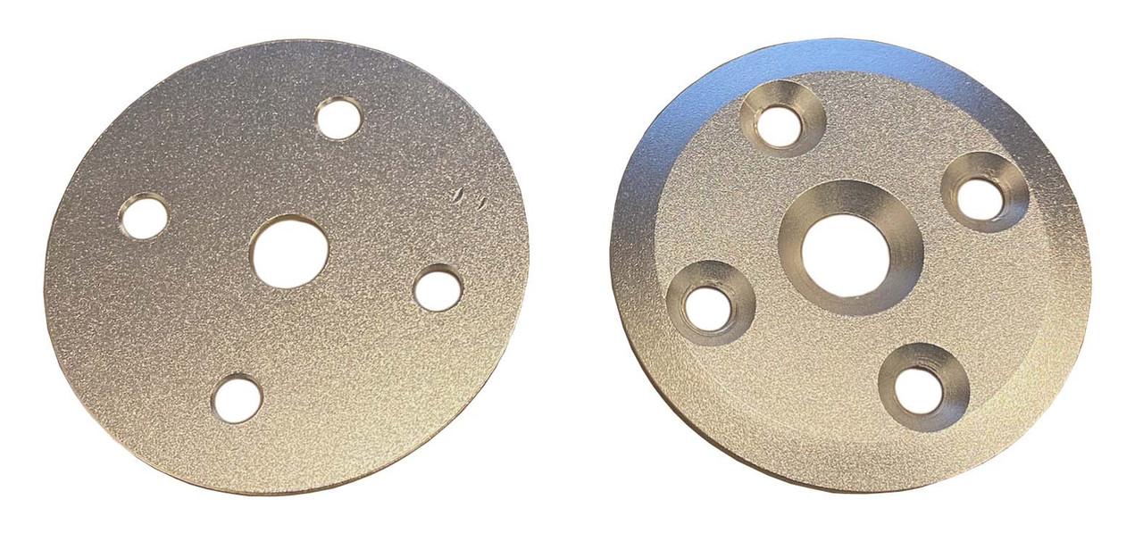 P/N STZ0165: Aluminum 5 Hole Seat Washer Kit, Silver