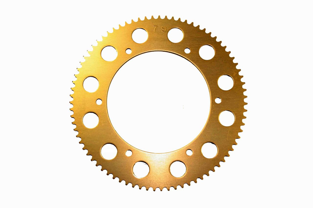 #219 Gold Axle Sprockets