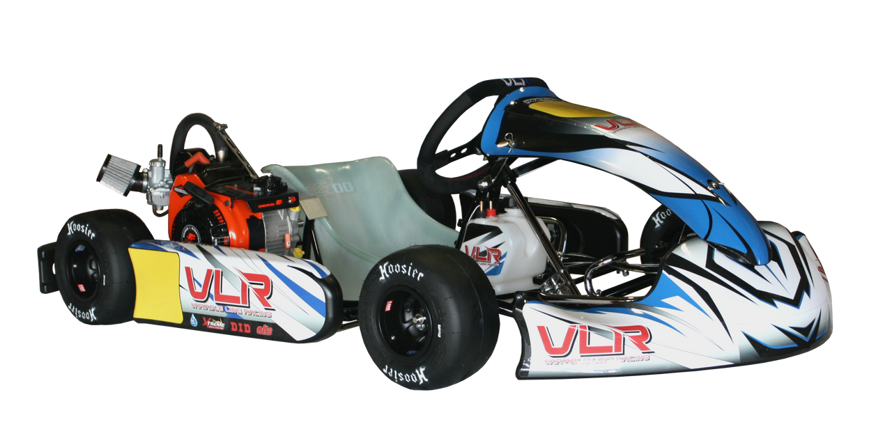 VLR Sapphire Cadet Kart Chassis (w/ LO206 Engine & Hilliard Flame #219 Complete Kit