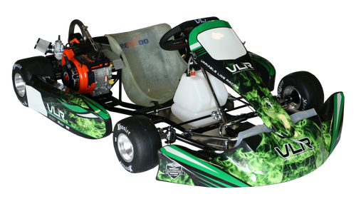VLR Emerald Adult Kart Chassis (W/ LO206 Engine & Hilliard Flame #219 Complete Kit)