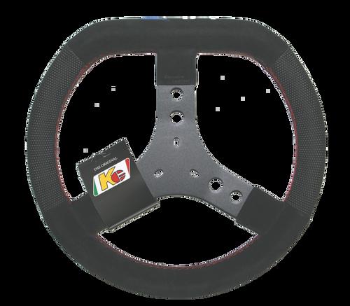 #02: P/N VLS1007: KG Steering Wheel, Flat Top, Embroidered VLR