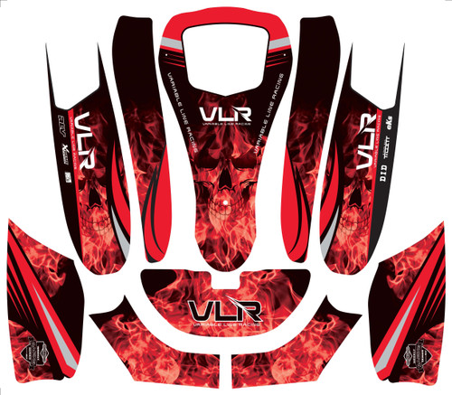P/N VLE6017: VLR Emerald Bodywork Graphic Package for 506, Red