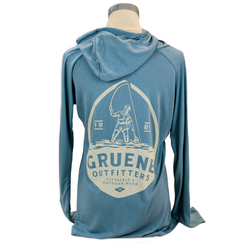 Women's Weekender Hoody with G.O. Logo - Blue Steel