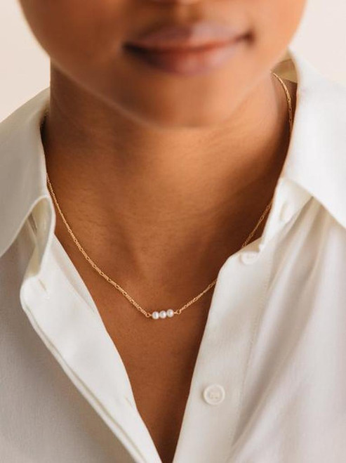 SERENDIPITY NECKLACE-PEARL
