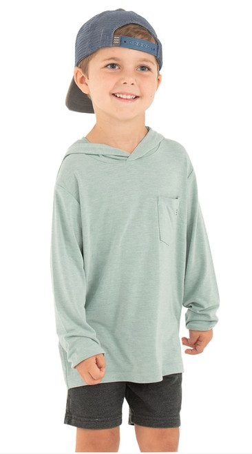 KIDS BAMBOO CROSSOVER HOODY- GREEN