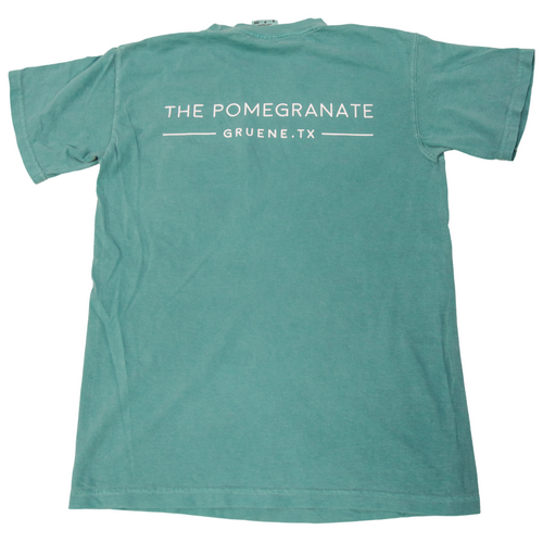 The Pomegranate Logo Tee- Seafoam