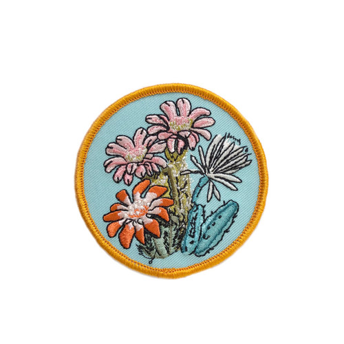 Cactus Blooms Iron on Patch