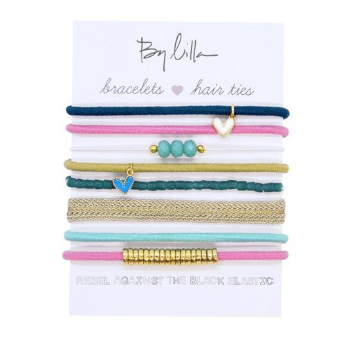 Water Lilly Bracelet/ Hairtie Stack