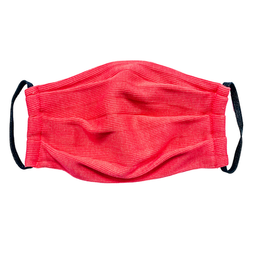Adult Ribbed Knit Mask- Solid Pink