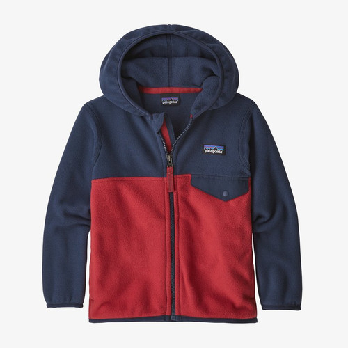 Patagonia Baby Micro D Snap-T Fleece Jacket- Fire/ New Navy