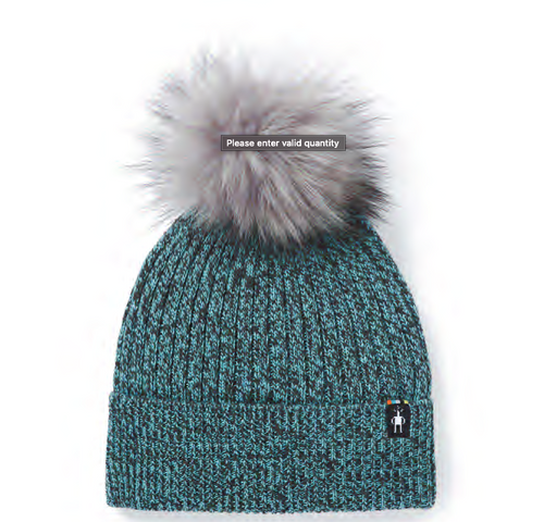 Smartwool Powder Pass Beanie- Wave Blue/ Charcoal Merle