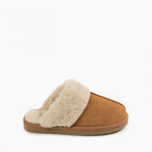Minnetonka Chesney Slipper- Cinnamon