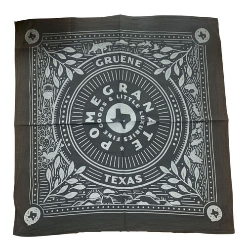 The Pomegranate Cotton Logo Bandana