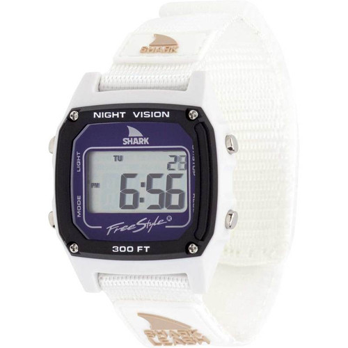 Freestyle Classic Leash Shark Watch- White Dolphin